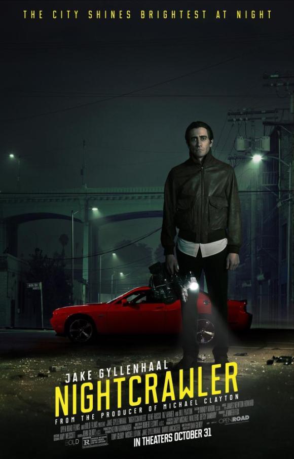 NIGHTCRAWLER, US Poster art, Jake Gyllenhaal, 2014. ©Open Road Films