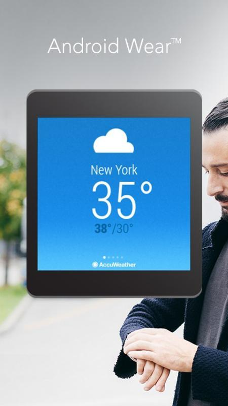 AccuWeather App for Android Wear (PRNewsFoto/AccuWeather)