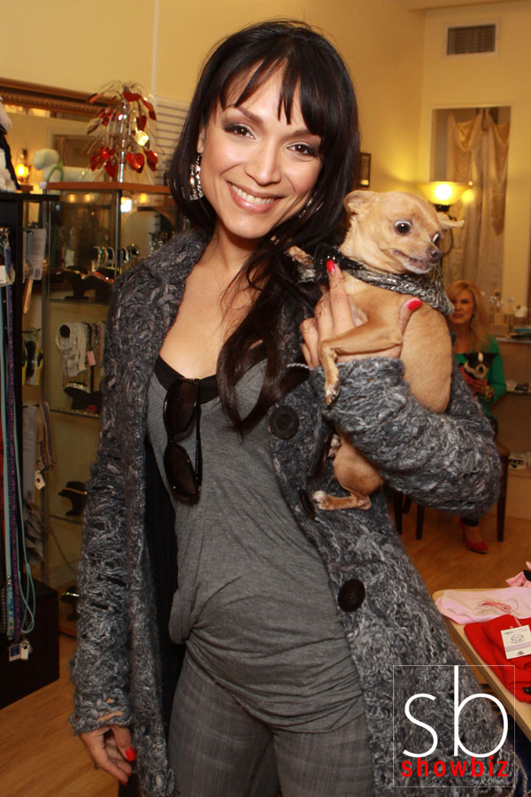 BEVERLY HILLS, CA - FEBRUARY 13: Mayte Garcia of VH1's 'Hollywood Exes' hosts a pet adoption in conjunction with her foundation 'Mayte's Rescue' at The Beverly Hills Mutt Club on February 13, 2013 in Beverly Hills, California. (Photo by JC Olivera/Available for license at WireImage)