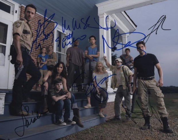 """Cast members of """"The Walking Dead"""" are among the current and yesteryear celebrities whose autographs offered in the marketplace were frequently forged in 2014, according to the latest """"Most Dangerous Autographs"""" list compiled by PSA/DNA Authentication Services. (Photo credit: PSA/DNA Authentication Services.) (PRNewsFoto/PSA/DNA Authentication Services)"""
