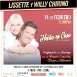 Lissette y Willy Chirino se presentarán el 14 de febrero en el Teatro Fillmore at the Jackie Gleason de Miami Beach