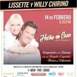 Lissette y Willy Chirino se presentarán el 14 de febrero en el Teatro Fillmore at the Jackie Gleason de Miami Beach