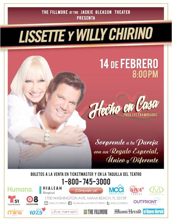 Lissette y Willy Chirino (PRNewsFoto/Lissette and Willy Chirino)
