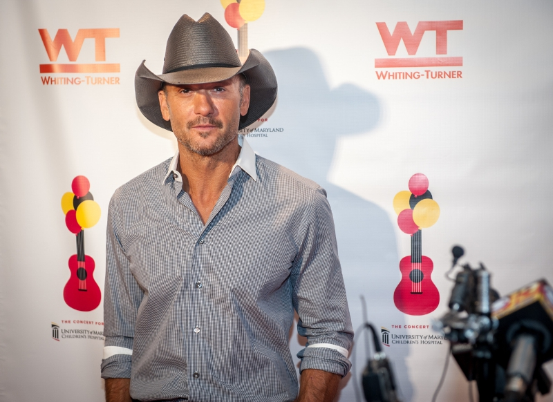 Tim McGraw is seen at the Concert For University of Maryland Children's Hospital, on Saturday October 24th 2015 in Baltimore Maryland. McGraw headlined the concert to benefit the patients and programs of the Hospital.  Edwin Remsberg AP Images for University of Maryland Medical System Foundation (PRNewsFoto/University of Maryland Medical)