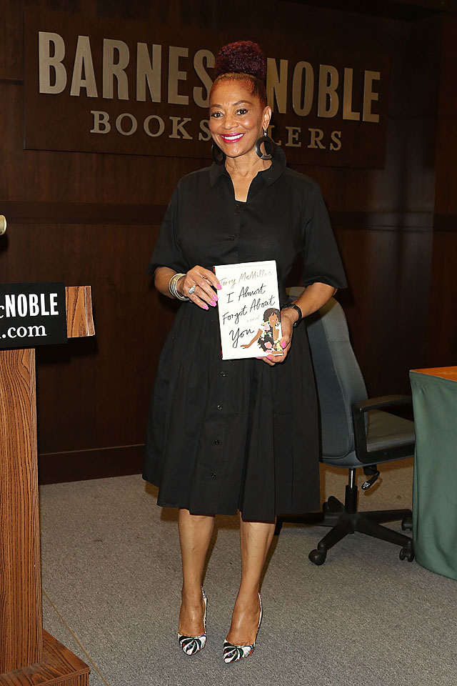 LOS ANGELES, CA - JUNE 29: American author Terry McMillan poses for pictures during the signing of her book 'I Almost Forgot About You' event at Barnes & Noble at The Grove on June 29, 2016 in Los Angeles, California. (Photo by JC Olivera)