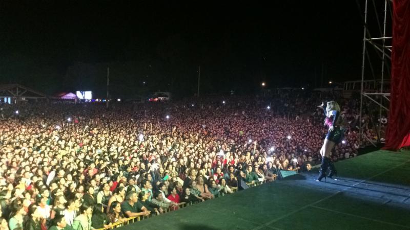 Gloria Trevi en su concierto en Bolivia (Foto cortesia The 3 Collective)