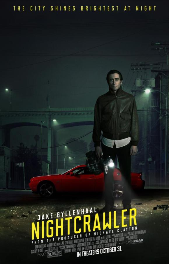 NIGHTCRAWLER, US Poster art, Jake Gyllenhaal, 2014. ©Open Road Films