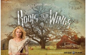 "Ram Trucks has launched a new marketing campaign featuring Grammy Award-winner Miranda Lambert singing ""Roots and Wings,"" a song she wrote exclusively for the campaign. Lambert says the song was inspired by what the Ram brand stands for and is a personal story about where she came from and where she is going. (PRNewsFoto/FCA US LLC)"