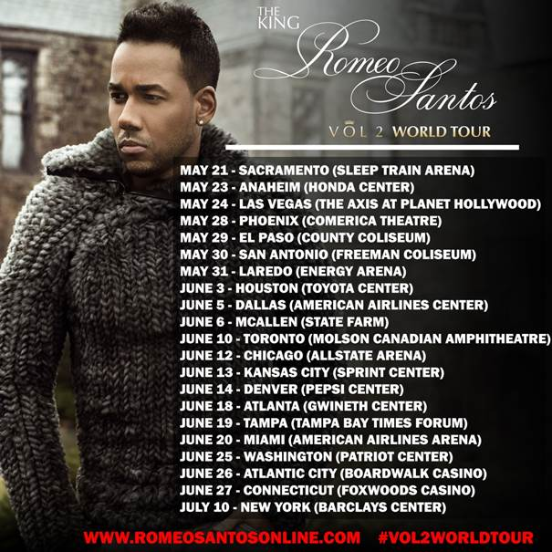 ROMEO SANTOS Announces A Second U.S. Arena Leg Of His Record-Setting Formula Vol. 2 Tour