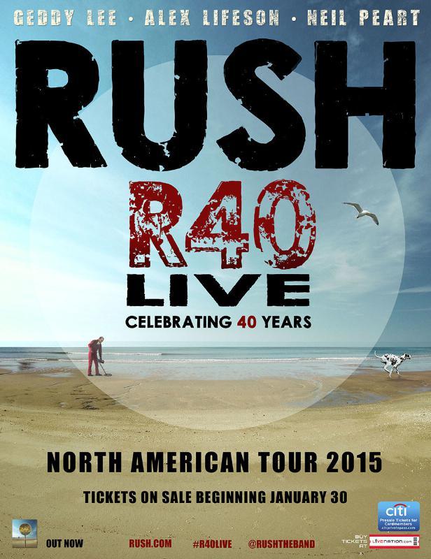 RUSH ANNOUNCES R40 LIVE TOUR - 40TH ANNIVERSARY TOUR (PRNewsFoto/Live Nation Entertainment)