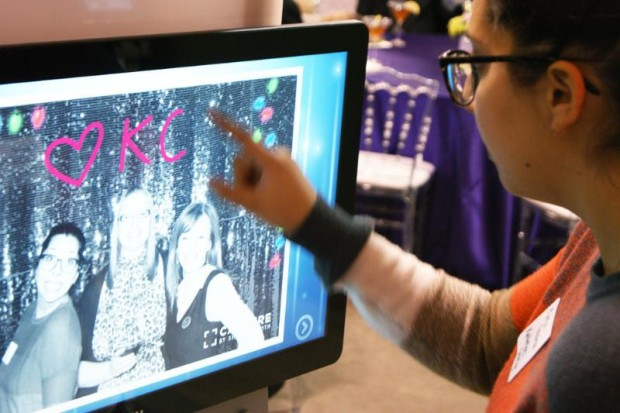The intuitive software interface allows guests to navigate and edit their photos with ease. (PRNewsFoto/ShutterBooth)