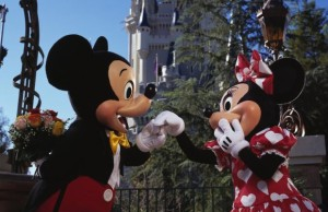 Mickey Mouse and Minnie Mouse Celebrate Valentine's Day at Walt Disney World Resort in Lake Buena Vista, Fla. (PRNewsFoto/Walt Disney Parks and Resorts)