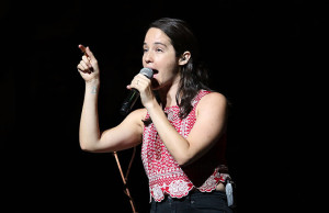 Ximena Sariñana opens for Juanes during his tour Loco Amor at Microsoft Theater in Los Angeles, California (Photo by Jc Olivera/GlobalMediaImages.com)