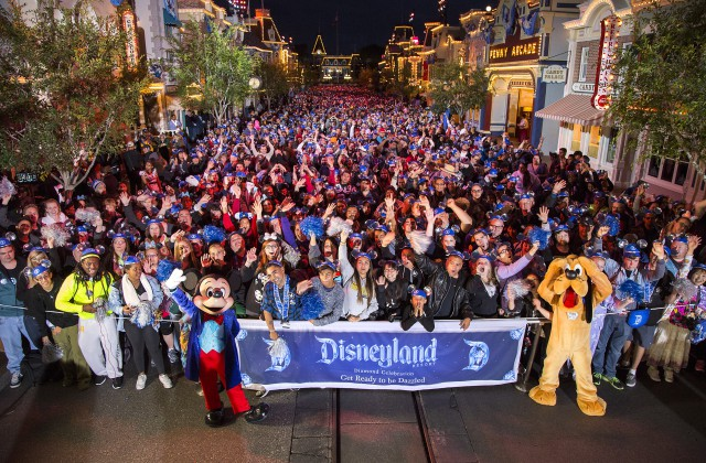 GET READY TO BE DAZZLED (May 22, 2015) – Disneyland park guests count down to a 24-hour party that kicks off the Disneyland Resort Diamond Celebration in Anaheim, Calif. Celebrating 60 years of magic, three new nighttime spectaculars will immerse guests in the worlds of Disney stories like never before with the first all-LED parade at the resort; a reinvention of the classic fireworks show that adds projections to transform the park experience; and a moving, new version of 'World of Color' that celebrates Walt Disney's dream of Disneyland. (Paul Hiffmeyer/Disneyland)
