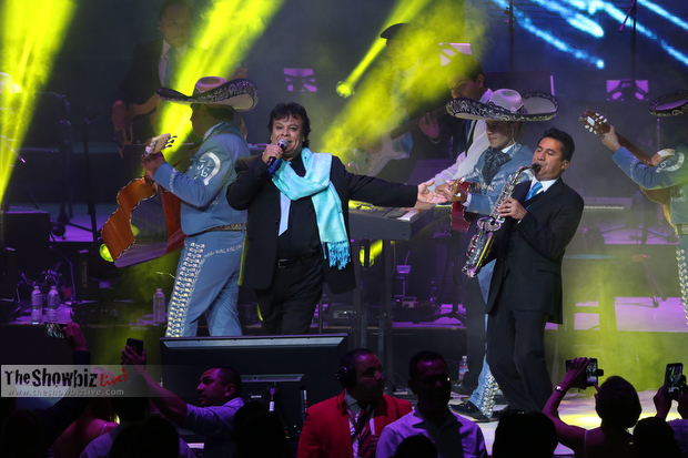 Juan Gabriel performs onstage at the Microsoft Theater on October 10, 2015 in Los Angeles, CA (Photo © Jc Olivera/TheShowBizLive.com)