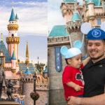 Noel Torres y su hijo se divierten en Disneyland en Anaheim