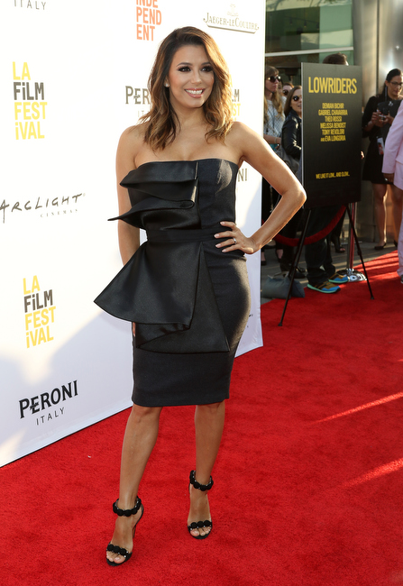 "Eva Longoria at The 2016 LA Film Festival Opening Night Premiere Of ""Lowriders"" held at ArcLight Cinemas' Cinerama Dome on June 01, 2016 in Los Angeles, California, United States (Photo by Global Media Images)"