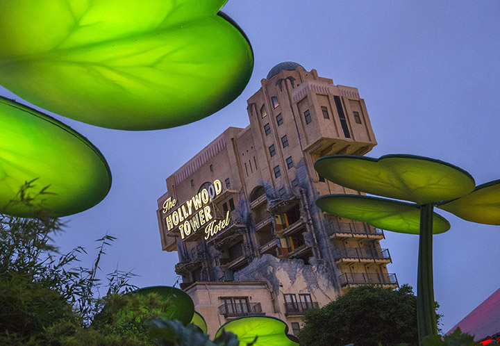 HALLOWEEN TIME AT THE DISNEYLAND RESORT (ANAHEIM, Calif.) ñ Guests will enjoy Twilight Zoneô Tower of Terror during the frightfully delightful Halloween Time season at the Disneyland Resort. The friendly spooks of Halloween Time return to the Disneyland Resort in 2016 from Sept. 9 through Oct. 31, along with fun seasonal dÈcor, themed food and beverage offerings and attractions that get a special seasonal overlay for Halloween Time.  (Paul Hiffmeyer/Disneyland)